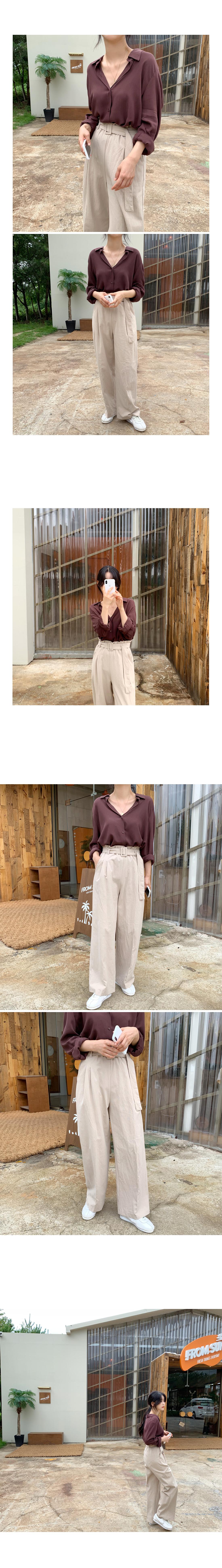 Fall In Shirt Blouse-Beige