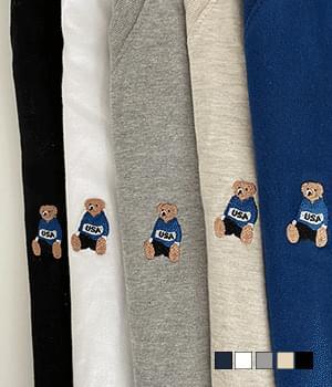 American Bear V-Neck Short Sleeve T-Shirt