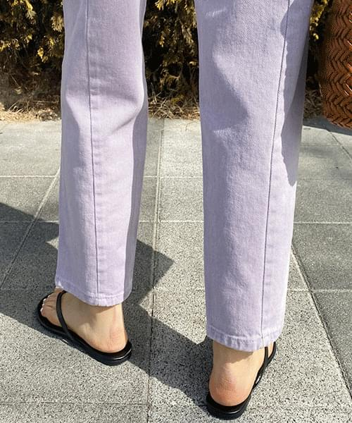 Dying Faded Back Split Straight Pants