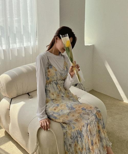 Marie Flower Bustier Dress -2color