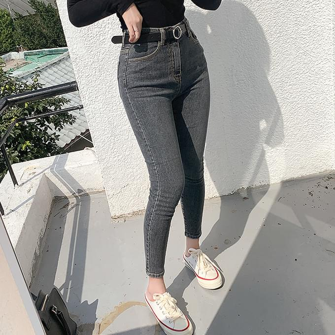 Over Black Denim 155cm Fit Crazy Gray Black Blue Short Girl 8 Skinny Denim Pants