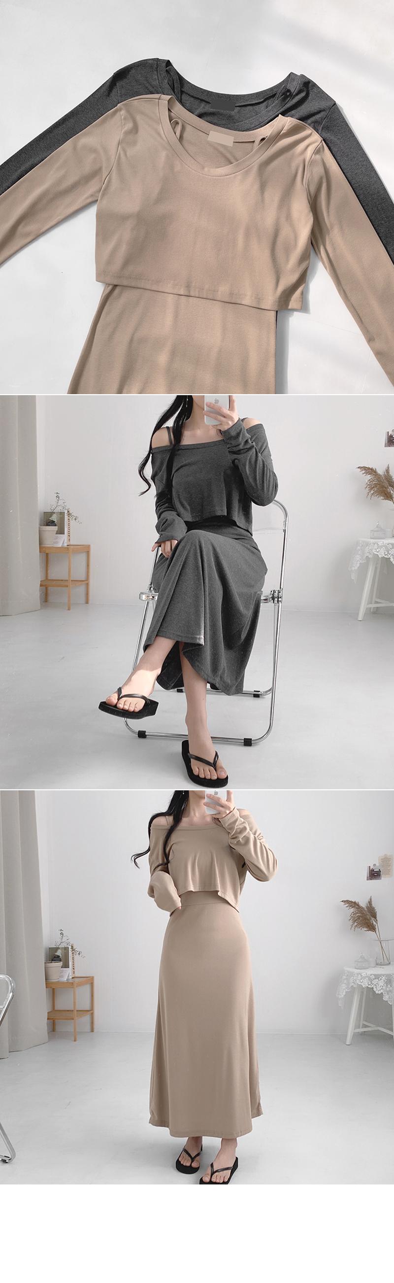 Bibig Long Off Shoulder Dress
