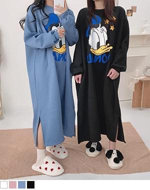 韓國空運 - Long Duck Fleece-lined Long Dress 長洋裝