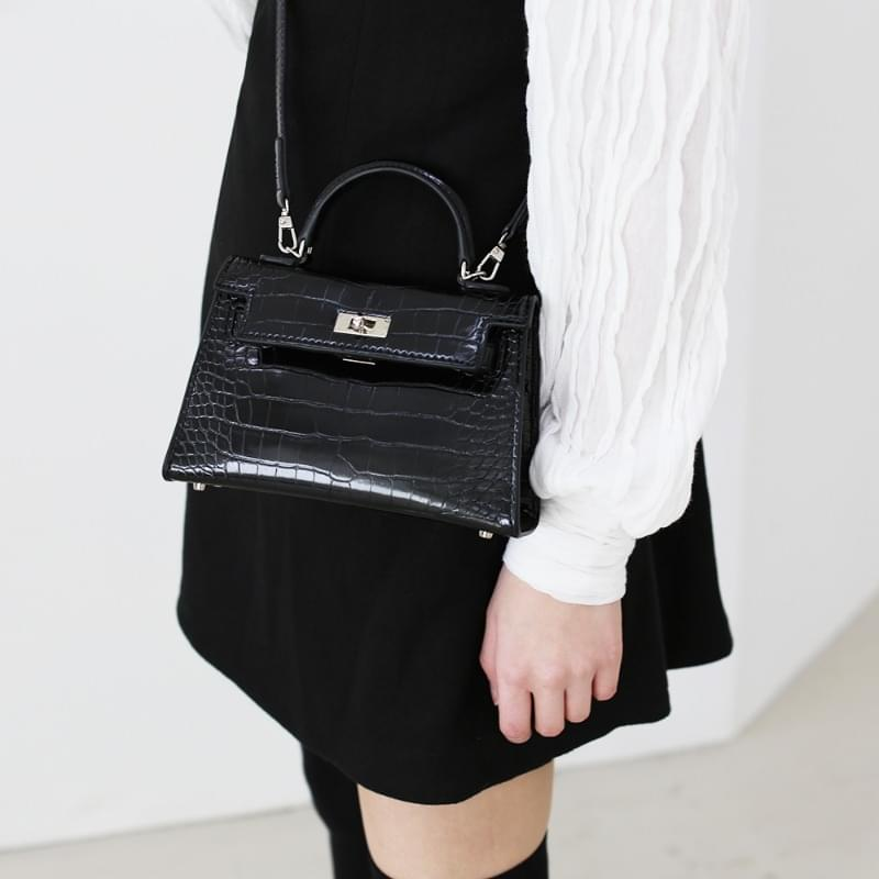 Enamel belted mini bag