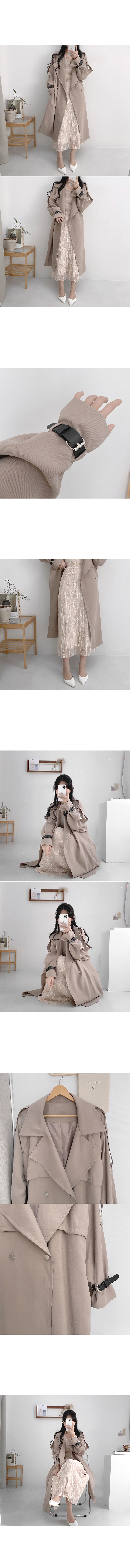 Riall sleeve belted barbary coat