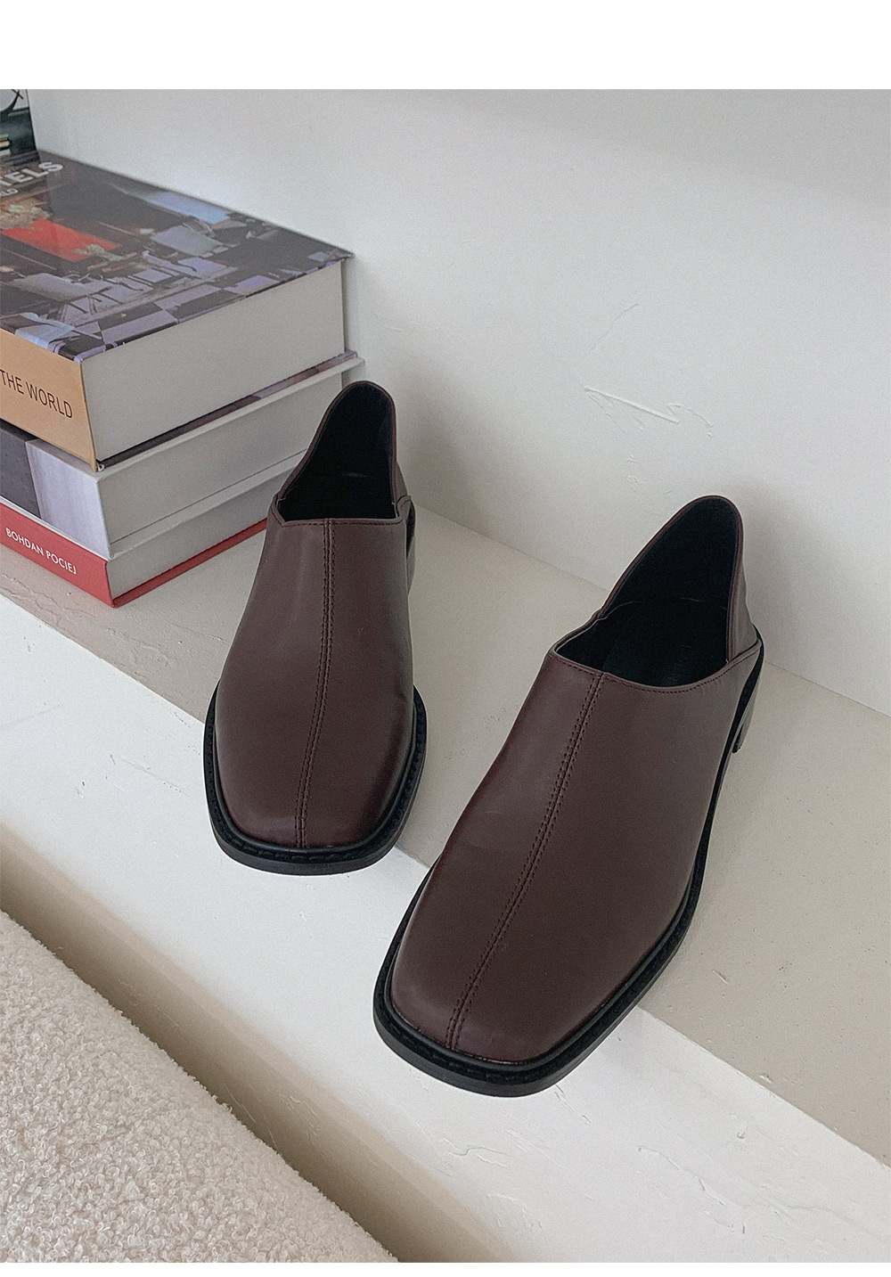 Square two-way loafers
