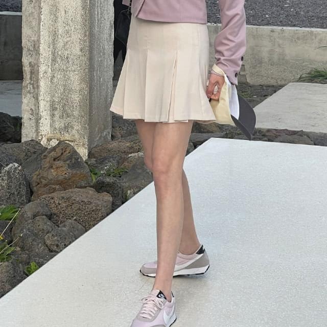 Reli pleated mini skirt