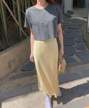 Roberky satin skirt