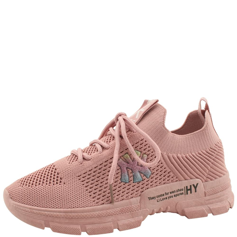 Knitwear Spandex Soft Casual Sneakers Pink