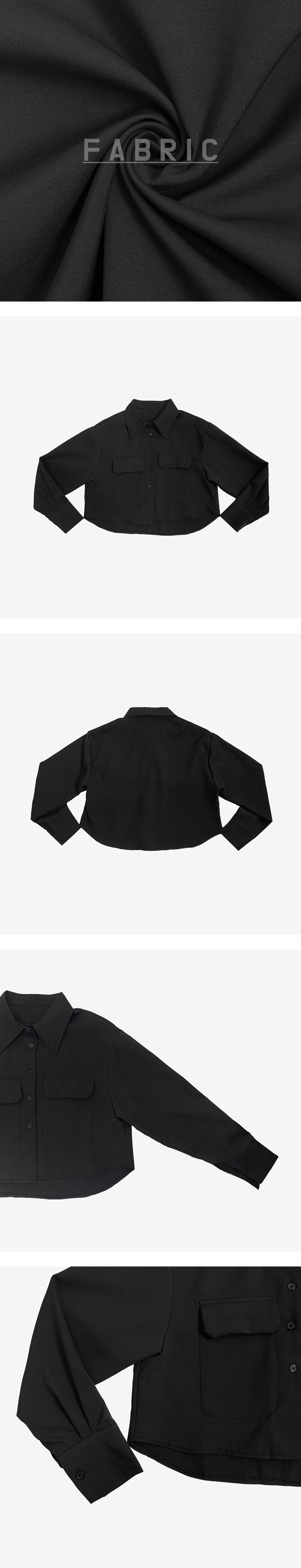Dani pocket cropped shirt