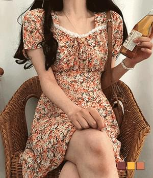 Tintin Lace Flower Mini Dress