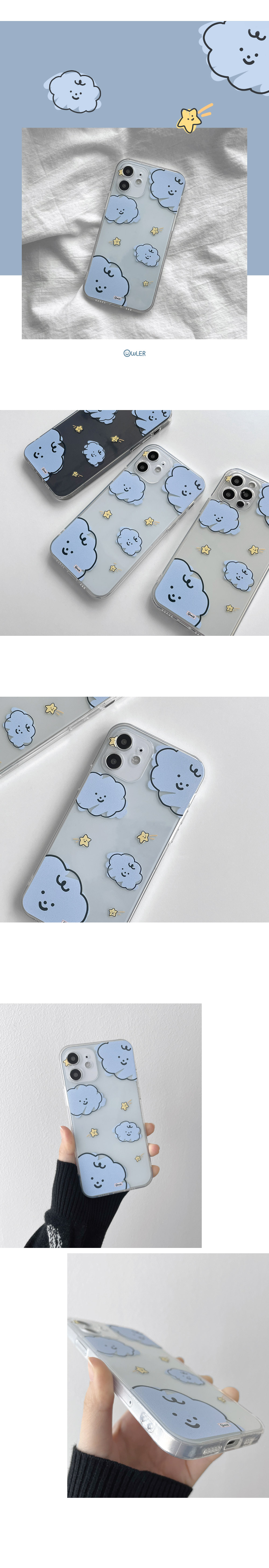 Cloud Star Crayon Full Cover iPhone Case