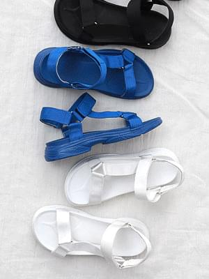 Isshu nylon triangle Velcro strap molded sole sporty sandals 10783