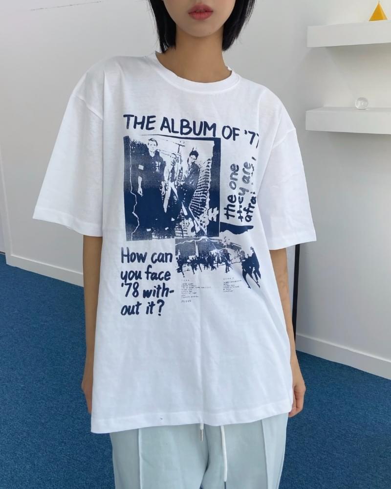 Album Printing Boxy Short Sleeve Tee 短袖上衣
