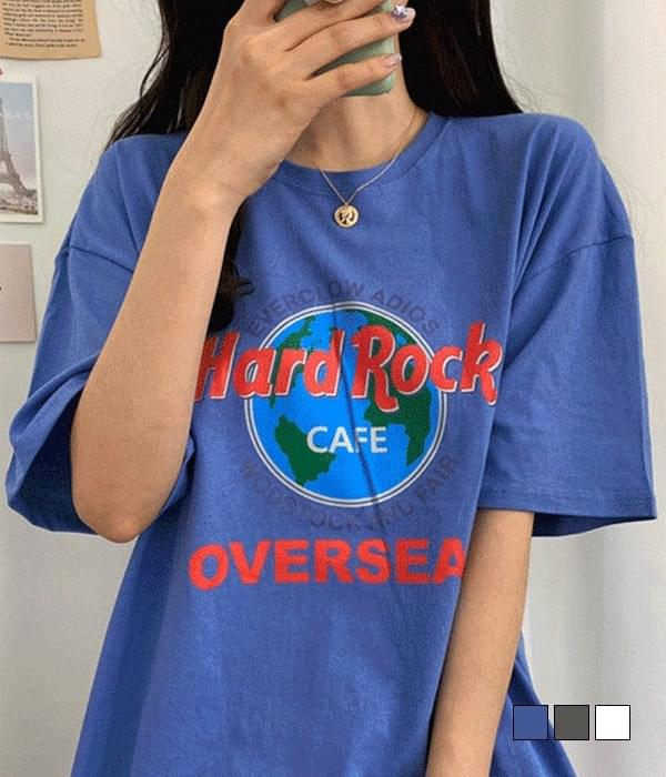 Hard Rock Loose-fit Short Sleeve T-Shirt