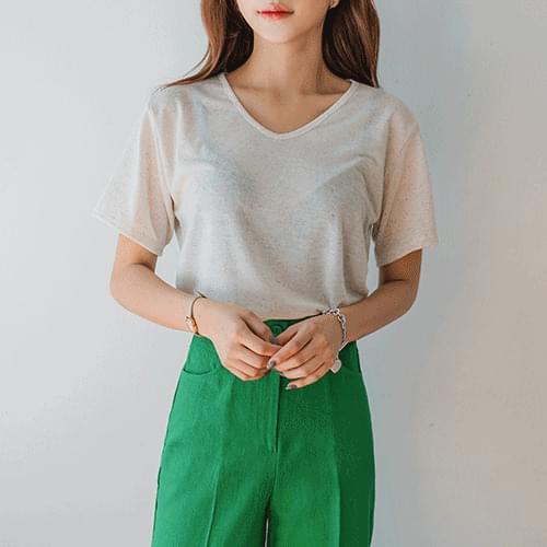 Cool linen short-sleeved tea