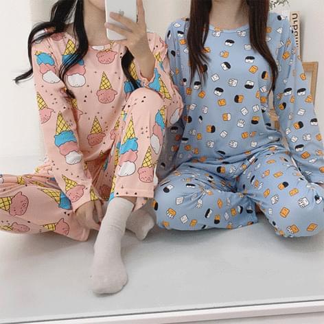 Character 5 Kinds of Seasonal Pajamas Pajama Elmo Ice Cream Bread