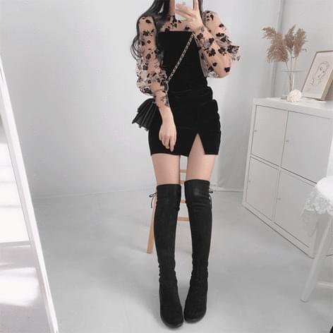 Melet See-through Velvet Dress