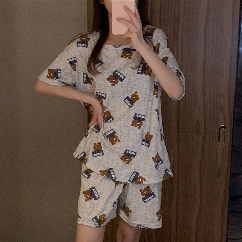 ho4198 Cupid Bear Pajama Set