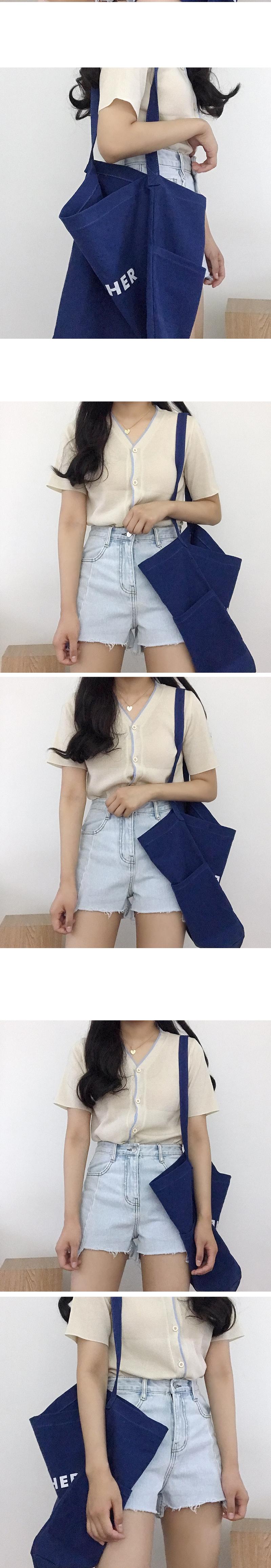 Soft V-neck color cardigan