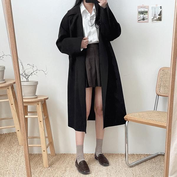 韓國空運 - Feminine strap coat 大衣外套