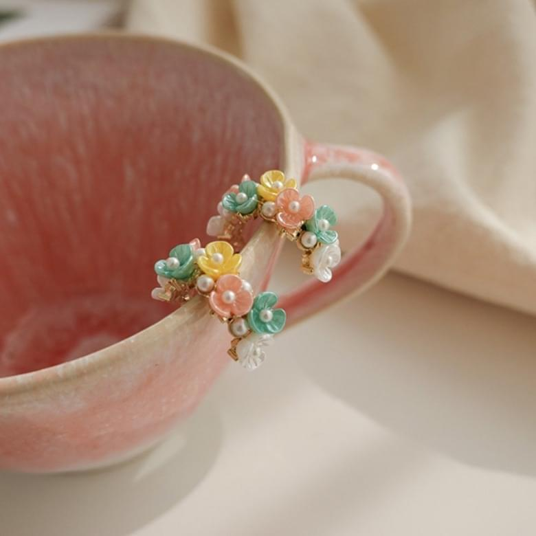 韓國空運 - Watercolor flower earrings 耳環