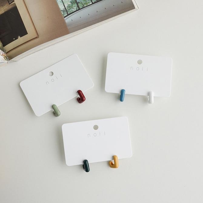 Color Unfoot Nickel-Free Needle Earrings