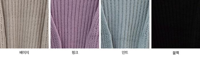Wort Balloon Sleeve Open Knitwear Cardigan