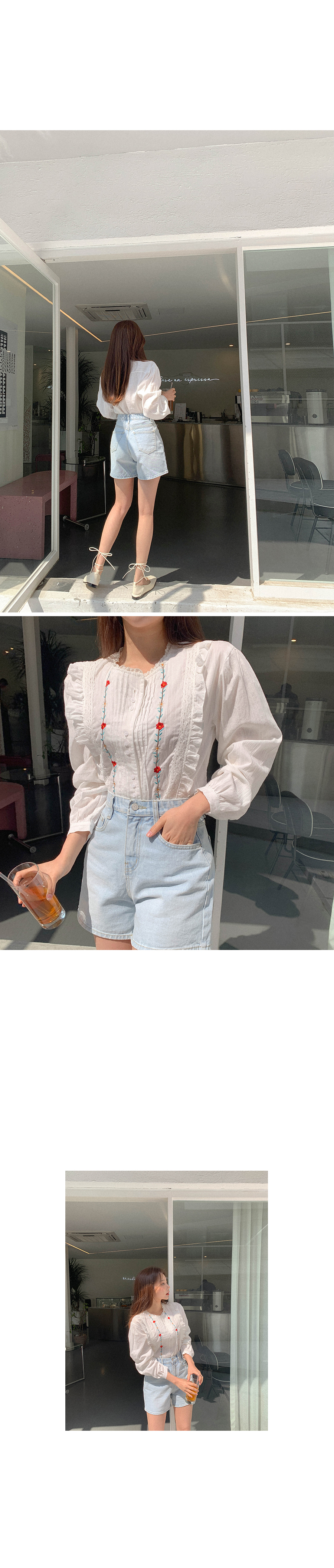 Pretty Blouse with Flowers