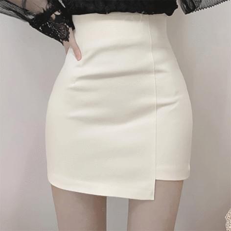 Dada Unbal Lined High Waist Skirt