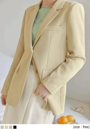 Notch Lapel Basic Jacket