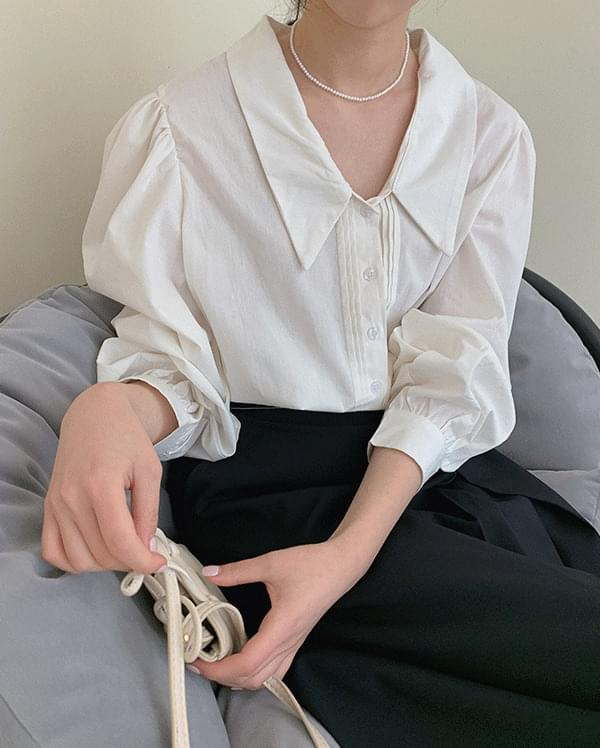 #Any place bead cotton pintuck blouse