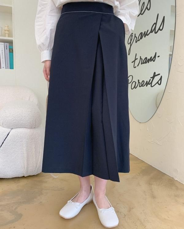 Adu stitch long skirt