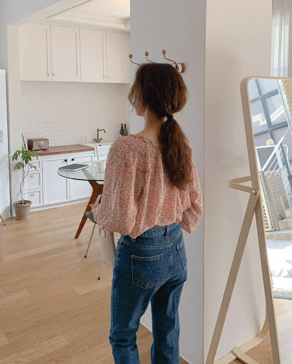 #Any place Bonnie frill flower blouse