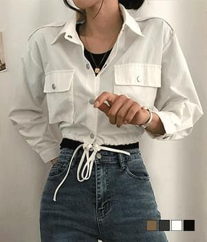 Yami cropped string short field jacket