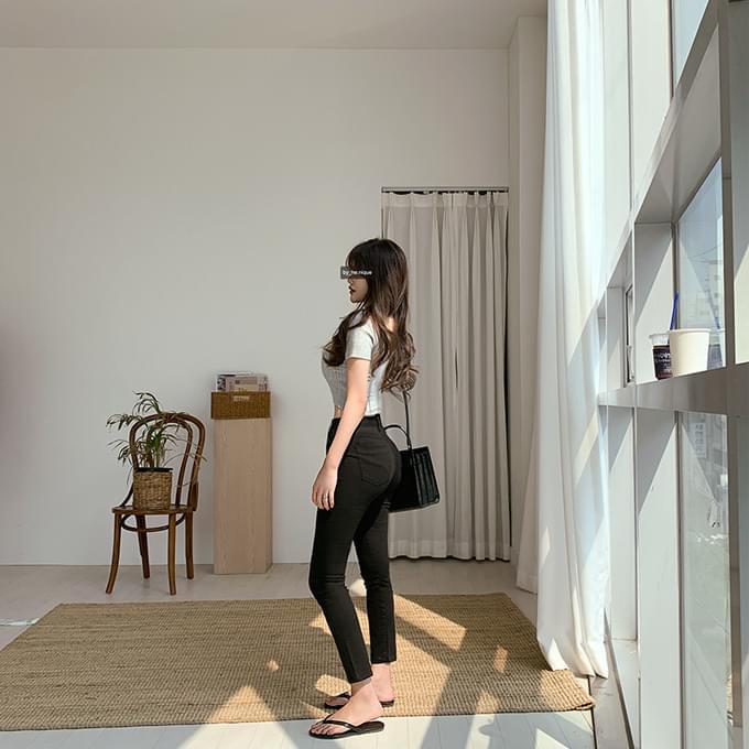 155cm Legend Jojoong Hajin Short Girl Part 8 Summer Cotton Straight Skinny Pants
