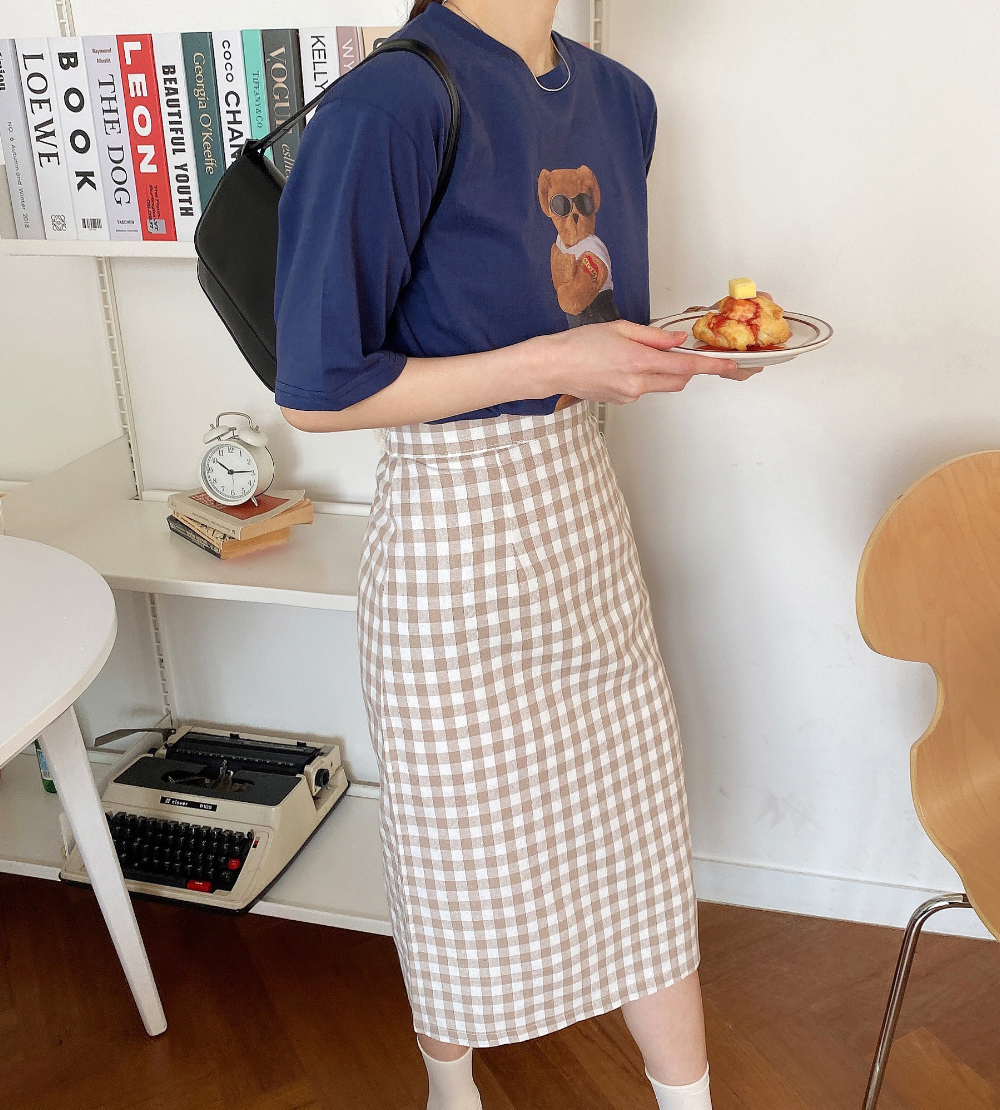 Cookie Check Skirt