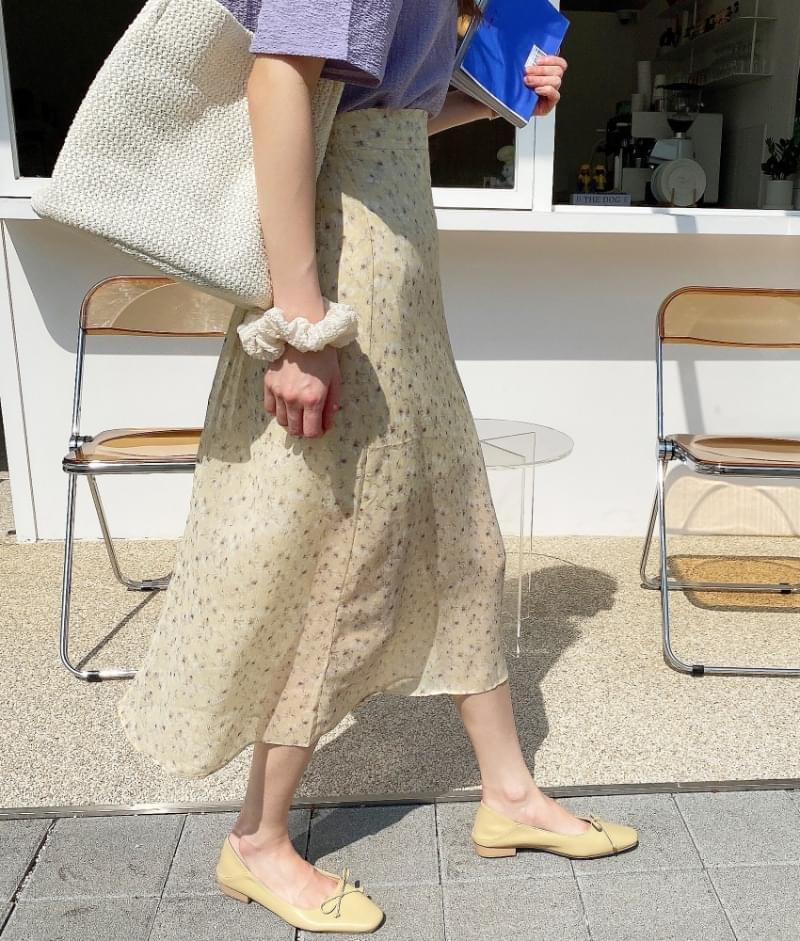 Cherry Blossom Chiffon Skirt