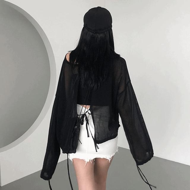 Split Gauze Sleeve (Black)