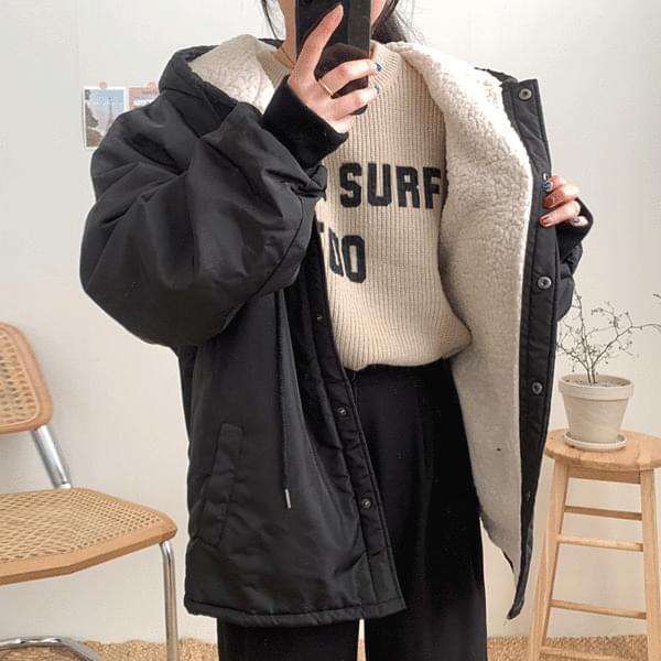 Casual fleece hooded Jacket