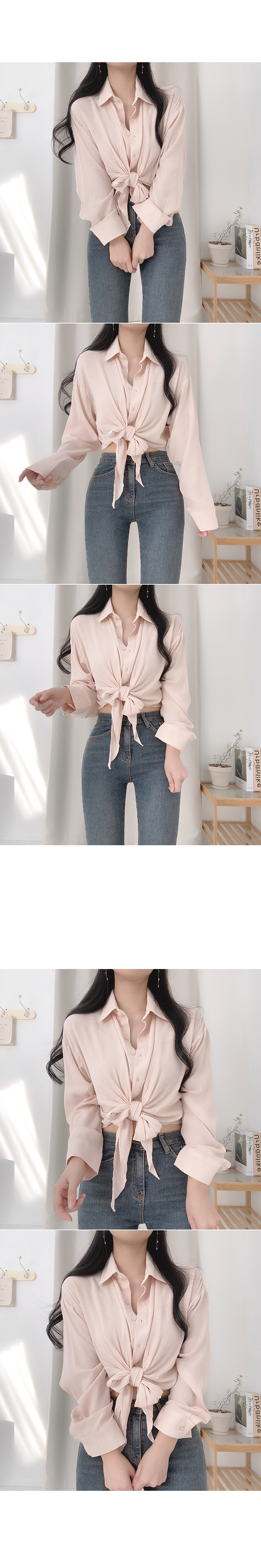 Pediatric knotted blouse