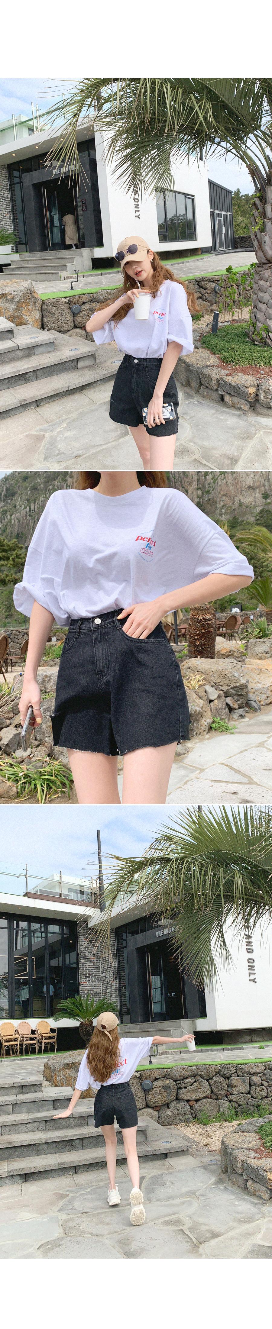 Kanji Handsome Denim Shorts