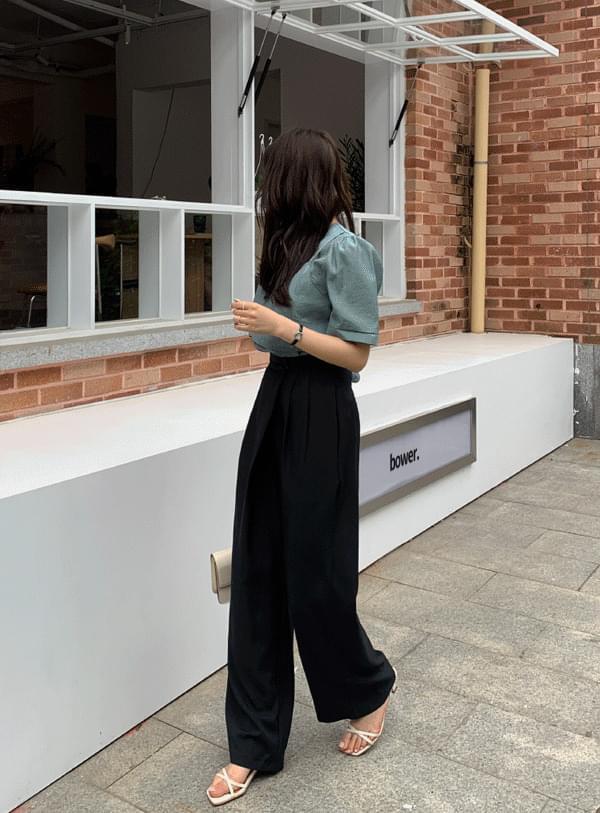 Diagonal slacks pants