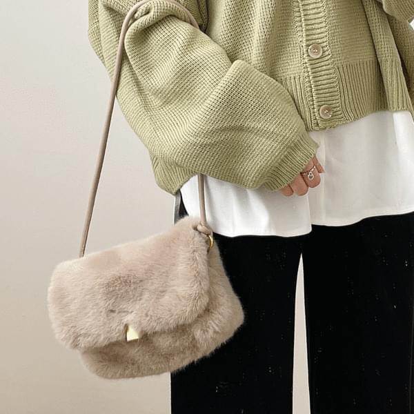 Lovely Fur Shoulder & Cross Bag