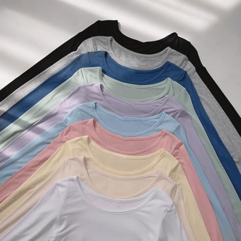 Libri You-neck basic long-sleeved tee