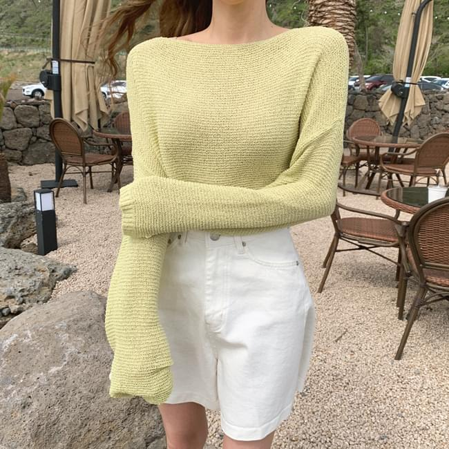 Drunk with freshness Boat Neck Knitwear