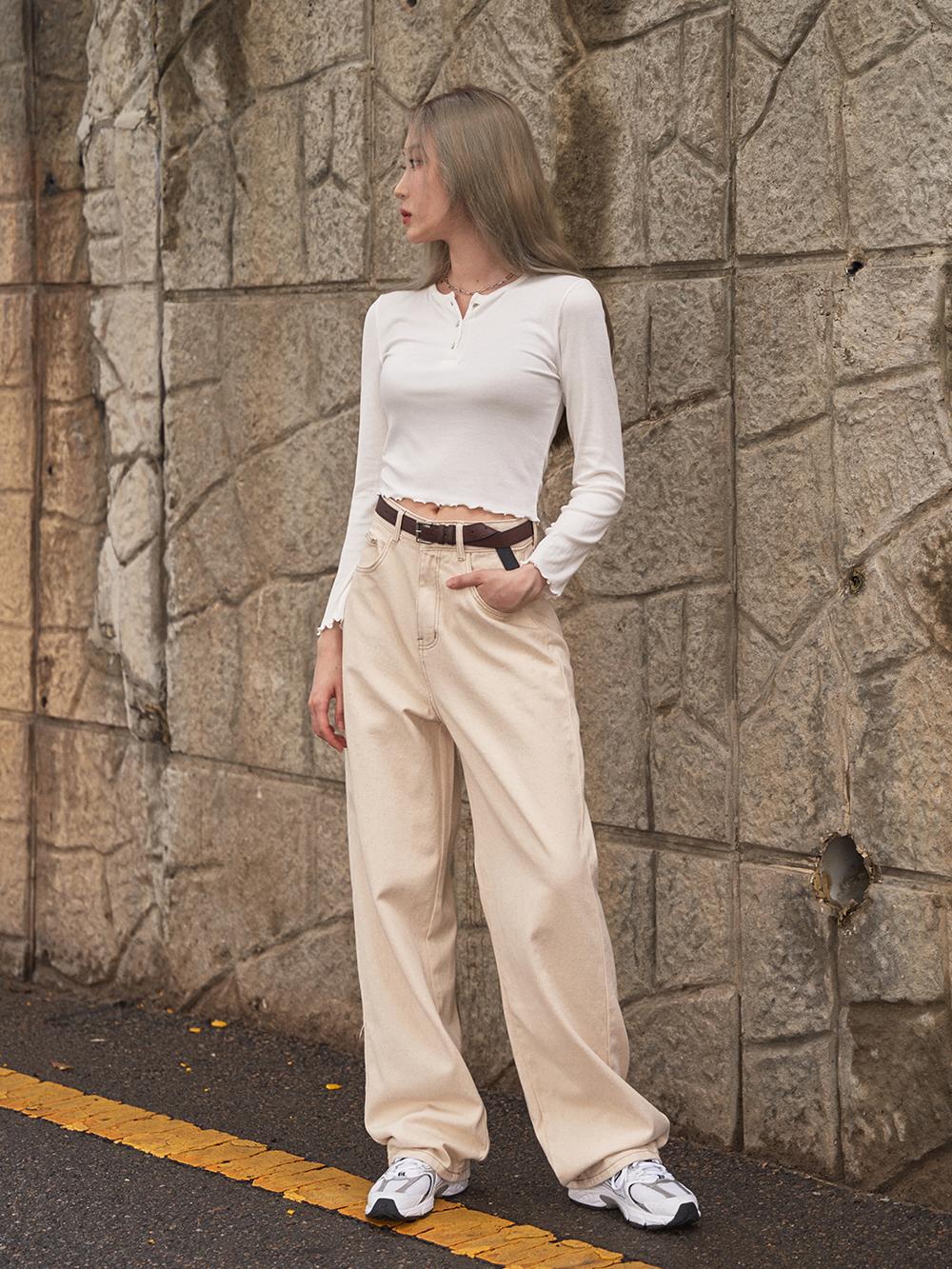 Basic Cotton Wide Pants