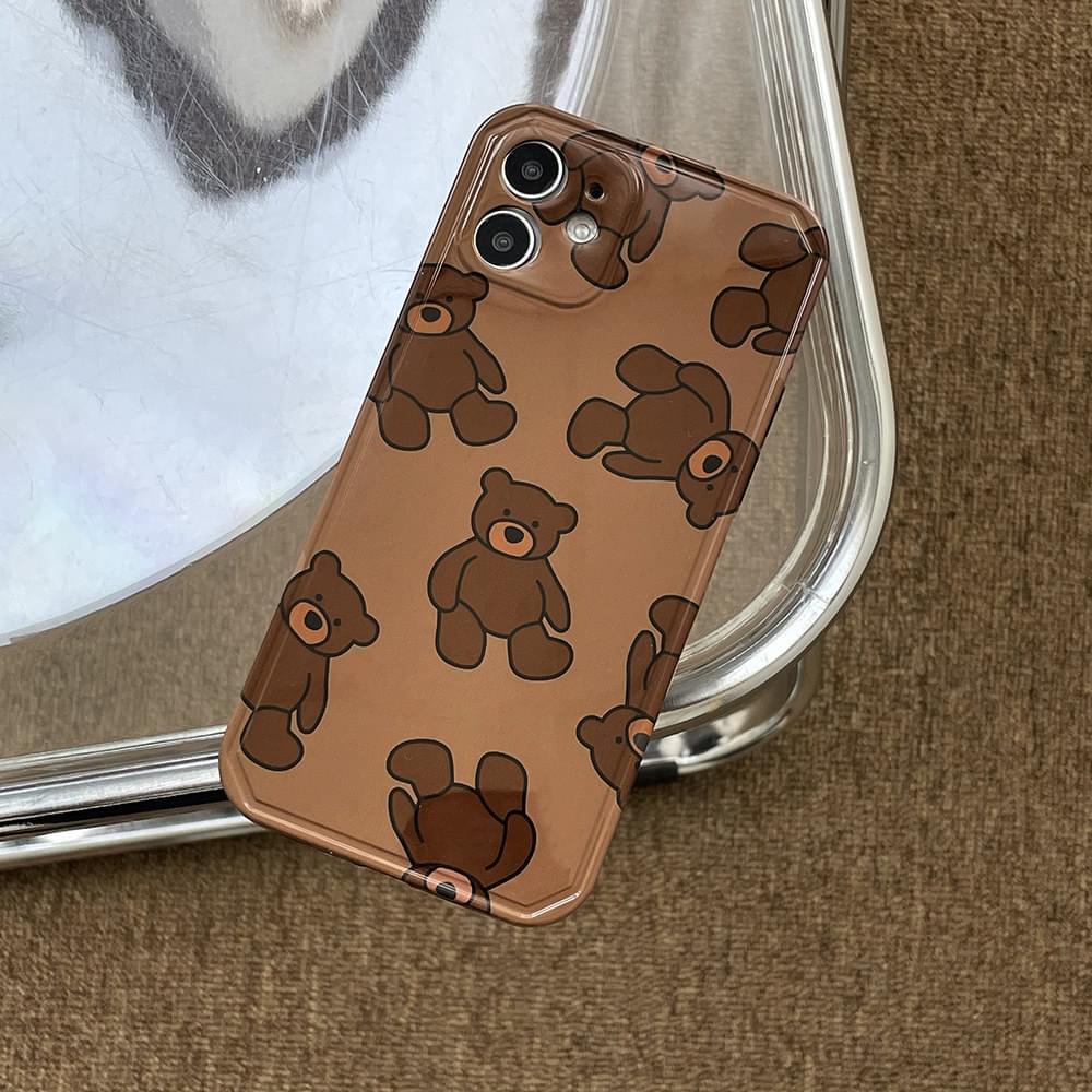 Favorite Brown Bear Full Cover iPhone Case