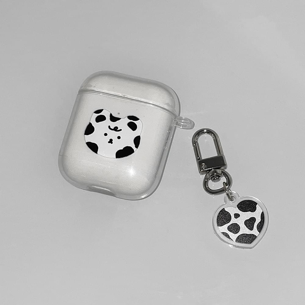 Cow Baby Transparent Jelly Air Pod Case
