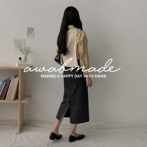 ♥#AWABMADE:_Premium pin check long skirt